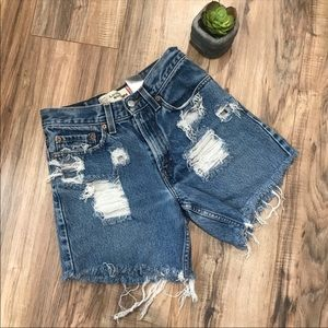 Vintage Levi's 569 Cut-off Distressed Jean Shorts